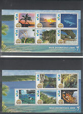 Niue 2009 MNH Scenes Definitives SG#MS1049-50 11v Set 2v Sheets Coconut Palm