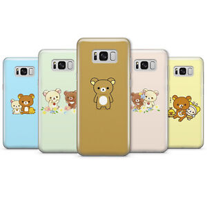 RILAKKUMA CUTE JAPANESE BEAR PHONE CASES & COVERS FOR SAMSUNG S8 S9 S10 NOTE 9