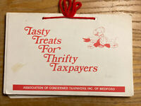 Tasty Treats For Thrifty Taxpayers Medford MA Cookbook Concerned Taxpayers Asso.