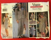 Vogue Pattern 1546 TAMOTSU Misses' Jacket Dress Top Skirt Pants Size 18, 20, 22