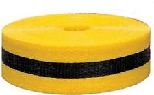 """Extra Durable Woven Barricade Webbing Tape Yellow & Black 2"""" X 150' - 50 Yards"""