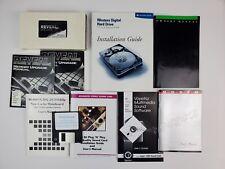 Lot vintage IBM Computer Hardware Manuals Modems/Fax/Hard Drive/Memory.Mainboard