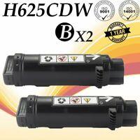 2 PK Black Toner for Dell H625cdw H825cdw S2825cdn H625 H825 S2825 593-BBOW