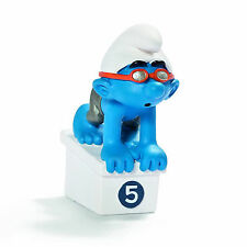 SCHLEICH SMURFS OLYMPIC SPORTS - 20736 - Swimmer Smurf Figure- Retired