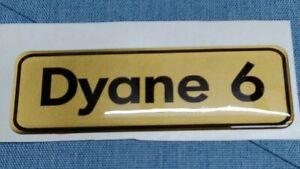 Classic Domed Car Badges - Citroen Dyane - gold/black Special Deal