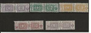 SAN MARINO 1914 -22 PARCEL POST 1L, 2L, 3L, 10L & 20L SG101-3 105, 108 CAT £170+