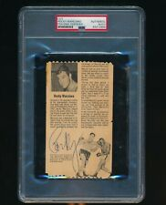 Rocky Marciano Auto Signed PSA/DNA Certified Slabbed Article From NY St Fair