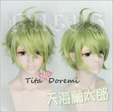 Cosplay wig Halloween NEW Danganronpa V3 green short party anime costume Hair