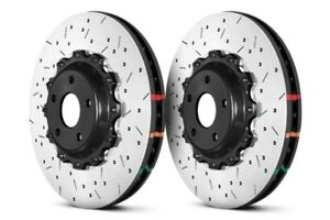 DBA Front 5000 Drilled/Slotted Brake Rotors (Pair) For Nissan 09-11 GT-R