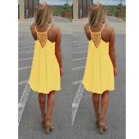 Fashion Women Summer Chiffon Evening Party Cocktail Beach Short Dress Plus Size