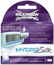 Wilkinson Sword Women Shower Shaving Sensing Blades Skin Guard Hydro Silk 3 Pack