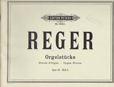 Reger : Orgelstücke, Opus 65, Band I, für Orgel