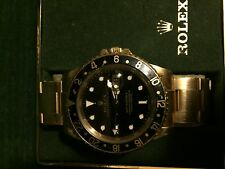 Rolex GMT-Master II 18K Yellow Gold Watch 16718 RIVETED BRACELET sapphire crysta