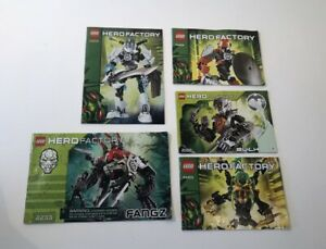 Lot (5x) Lego Hero Factory Manuals 2182 2233 44003 44004 44010