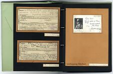 Bedeutende Autographen-Sammlung, 1869 ff, ?sterr. Dichter, Maler, Politiker etc