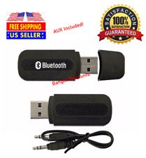 USB Bluetooth Music Stereo Wireless Audio Receiver Adapter 3.5mm Home Car PC AUX