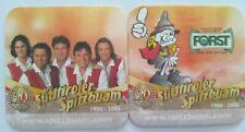 Bierdeckeln FORST Bier, 20 Jahre Südtiroler Spitzbuam
