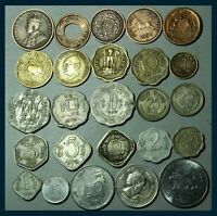 BRITISH INDIA - PRINCELY STATES - REPUBLIC INDIA 25 COINS LOT - COLLECTABLE SET