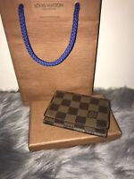 100% Authentic Louis Vuitton Damier Envelope Brown Credit Card Case