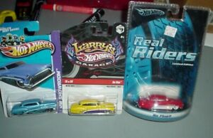 Hot Wheels 3 Lot So Fine Larry's Signed Real Rider Series  1/64th