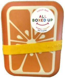 New All Boxed Up Orange Lunch Box Durable Reusable Eco Friendly