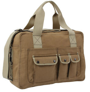 Canvas Shoulder Bag Specialist Carry Two Tone Khaki Brown Rothco 9761
