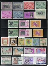 59 NICE OLDER MNH LIBERIA POSTAGE AND AIR MAIL STAMPS 1945 - 1965