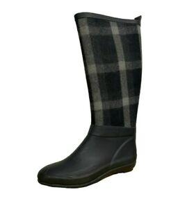 Joe Fresh Tartan Checked Riding Wellies Wellington Boots Size 7 (DQ1.12)