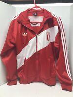 Adidas Men's Peru Jacket Futbol Soccer Track Small S Full Zip Red World Cup