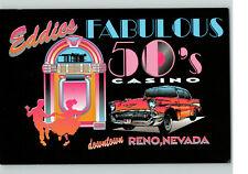 1990's Eddie's Fabulous 50's Casino Reno Nevada Postcard Vintage Fifties Gone a