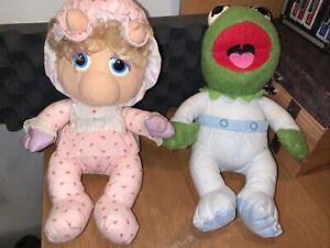 Vtg 1984 Hasbro MUPPET BABIES Plush Lot PAMPERS KERMIT Miss Piggy 80s