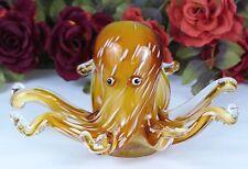 Tintenfisch Skulptur Glas Figur Glasfigur Kristallglas Murano Krake Octopus