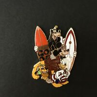 DCA - Paradise Pier Surfboards FAB 4 Goofy Mickey Donald Pluto Disney Pin 3567