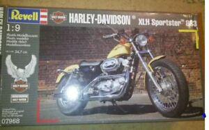 REVELL  07968 (1993)   HARLEY DAVIDSON XLH SPORTSTER  1:9 SCALE