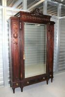 French Antique Walnut Louis XVI Armoire  1880   Bedroom Furniture