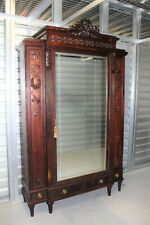 French Antique Walnut Louis XVI Armoire  1880 | Bedroom Furniture