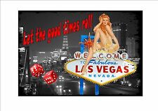 Las Vegas Sign Vintage Style Las Vegas Sign USA craps sign Casino Las Vegas Sign