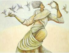 """""""Reminisce"""" - Giclee 100 Ethnic Expressive By Charles Bibbs"""