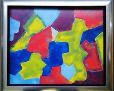 Alex Kinsky 1943 Moskau-lebt in Paris: Poliakoff-Farbfelder, Acryl, 40 x 50 cm