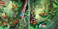 Frogs Frösche Amphibians Fauna Animals Solomon Islands MNH stamps set
