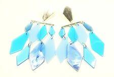 KENDRA SCOTT Hanna Rhodium Plated Light Blue Mother of Pearl Statement Earrings