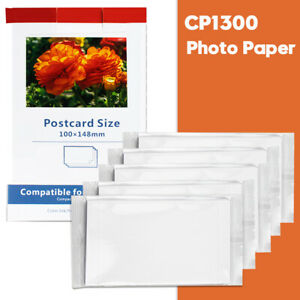 Photo Papers Compatible for Canon KP-108IN Selphy CP1300 CP1200 CP1000 4 x 6 In.