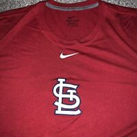 St. Louis Cardinals Nike Dri-Fit Red Short Sleeve Shirt - Men's 2XL XXL EUC
