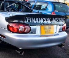 Financial Mistake XXL Size Matte White Track Sticker 100cm VW AUDI NISSAN JAP