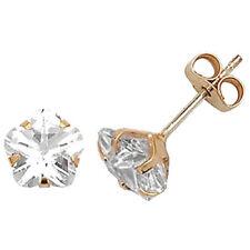 Pendientes de joyería con gemas transparente