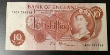 Vintage 1966 Ten Shilling Bank Note (Chief Cashier J S Fforde)C40N 789334 Ex Con