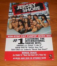 Jersey Shore Soundtrack 2-Sided Poster Original Promo 17x11 MTV