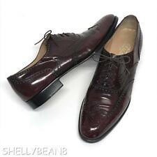 SALVATORE FERRAGAMO Lace Up WINGTIP Oxfords Shoes Loafers 10 B N OXBLOOD $960