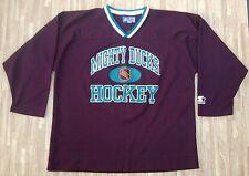 Anaheim Mighty Ducks #9 Paul Kariya Starter Hockey Jersey ~ Mens ~ Purple