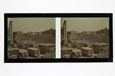 Arles Théâtre Antique France Photo C1 stereo Plaque de verre Vintage 1928